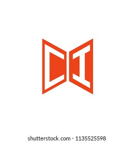 Initial Letter CI Hexagonal Shape Logo Design