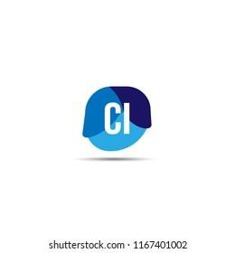 Initial Letter CI Logo Template Design