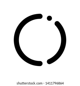Initial letter CI minimalist typographic art monogram line business brand identity logo, black color on white background.