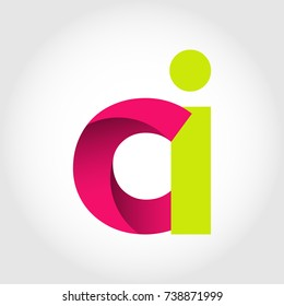 Initial Letter CI Rounded Lowercase Logo. Logo template.