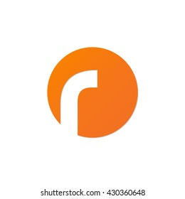 initial letter circle logo r