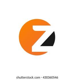initial letter circle logo z