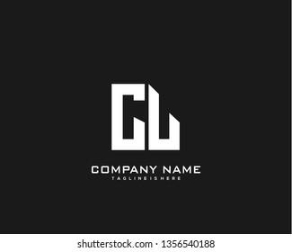 Initial letter CL minimalist art logo vector