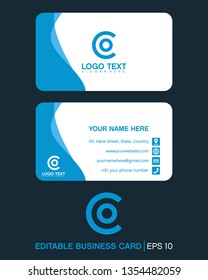 initial letter co, oc, with business card logo template