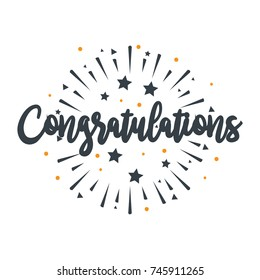Initial Letter Congratulations Illustration for greeting