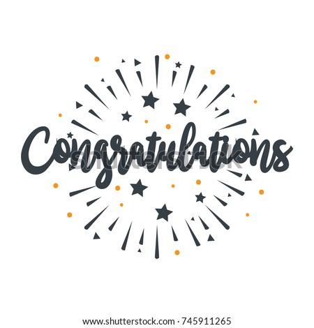initial letter congratulations illustration greeting のベクター画像