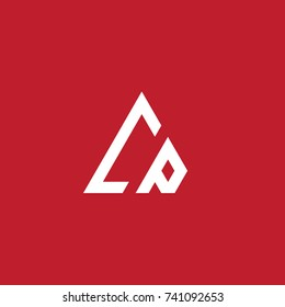 Initial Letter CP Linked Triangle Design Logo