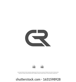 Initial letter CR, RC, C, R uppercase modern logo design template elements. Bold letter Isolated on white background. can be used for business, consulting group company.