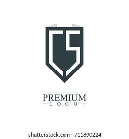 Initial Letter CS Company Design Logo Template
