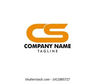 Initial Letter CS Design Logo