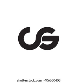 initial letter cs linked circle lowercase monogram logo black