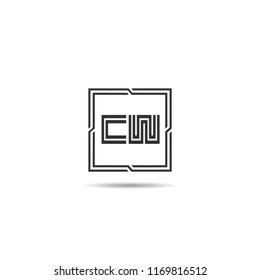 Initial Letter CW Logo Template Design
