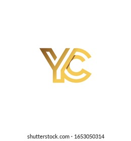 Initial letter cy or yc logo vector templates