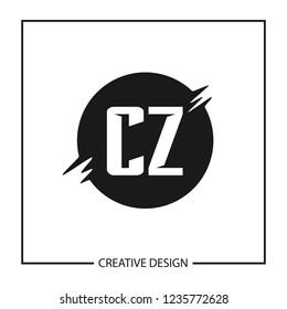 Initial Letter CZ Logo Template Design