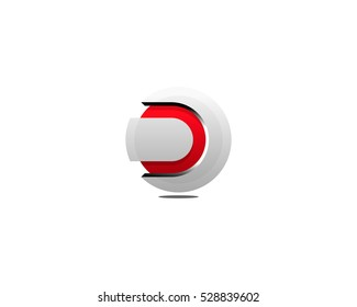 Initial Letter D 3D Logo Design Template