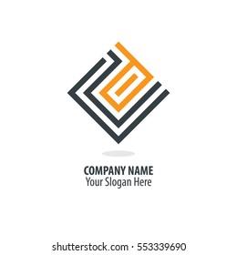 Initial Letter D CD Maze Logo