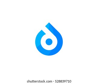 Initial Letter D Drop Water Logo Design Template