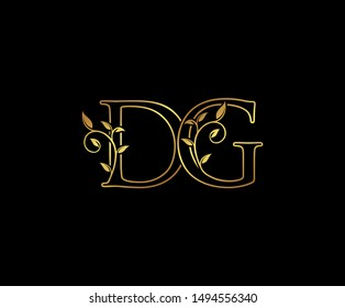 Initial letter D and G, DG, Gold Logo Icon,  classy gold letter monogram logo icon Suitable for boutique,restaurant, wedding service, hotel or business identity.