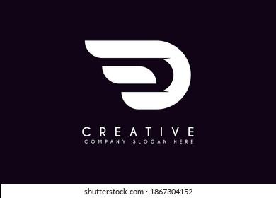 Initial Letter D Logo. letter D isolated on White Background.Flat Vector Logo Design Template Element.