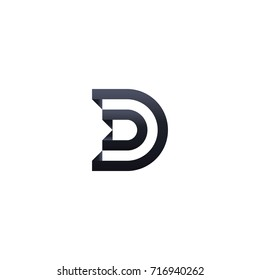 initial Letter D Logo symbol. minimal design template Vector illustration