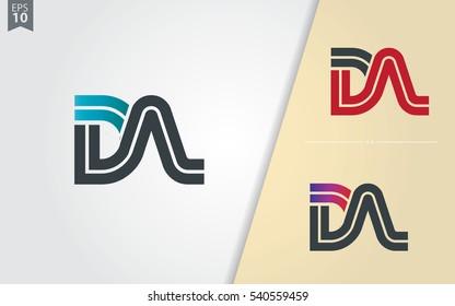 Initial Letter DA DN Linked Design Logo