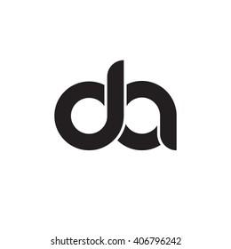 initial letter da linked circle lowercase monogram logo black