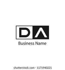 Initial Letter DA Logo Template Design