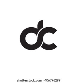 initial letter dc linked circle lowercase monogram logo black