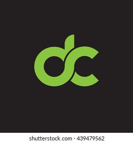 initial letter dc linked round lowercase logo green