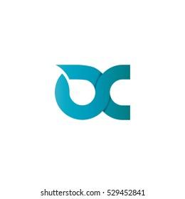 Initial Letter DC X Design Logo Blue