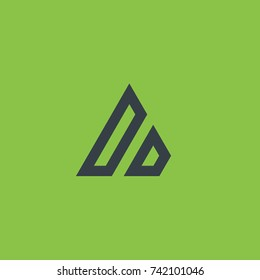 Initial Letter DD Linked Triangle Design Logo