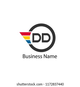 Initial Letter DD Logo Template Design