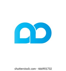 Initial Letter DD ND Linked Circle Lowercase Logo Blue