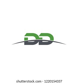 Initial letter DD , overlapping movement swoosh horizon logo vector