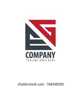 Initial Letter EG Design Logo