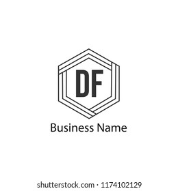 Initial Letter DF Logo Template Design