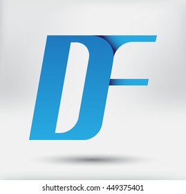 Initial letter DF.Vector logo template.