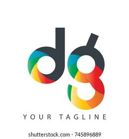 Initial Letter DG Rounded Design Logo