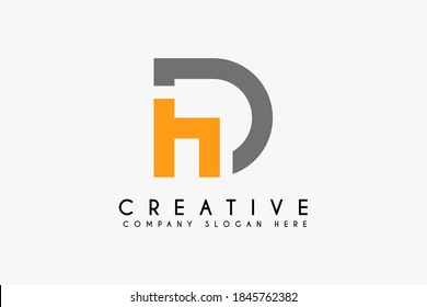 Initial Letter DH logo design template element. letter DH icon. Suitable for business and financial logos isolated on white background