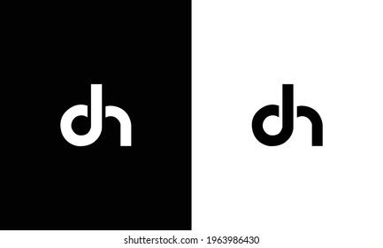 Initial Letter DH logo design template element. letter DH icon.