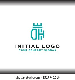 initial letter DH logo icon, inspiring logo designs for companies from. -Vectors