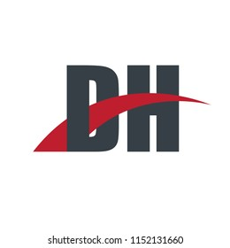 Initial Letter DH Overlapping Design Logo
