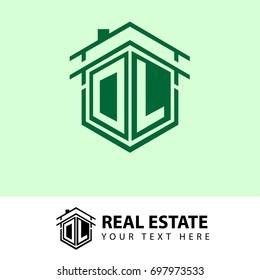 Initial Letter DK Hexagonal Shape Logo four Real Etate Company