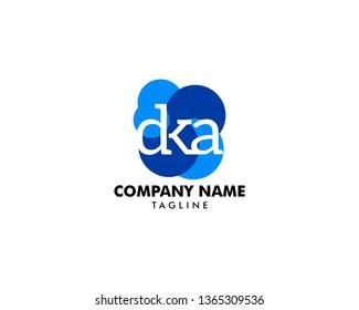 Initial Letter DKA Logo Template Design