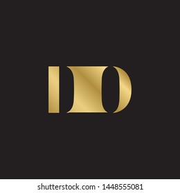 Initial letter do d o uppercase modern logo design template elements. Gold letter Isolated on black  background. Suitable for business, consulting group company.