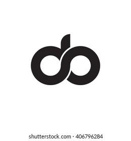 initial letter do linked circle lowercase monogram logo black