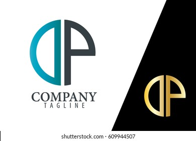 Initial Letter DP With Linked Circle Logo