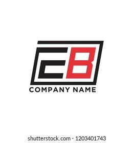 Initial letter E B logo template vector