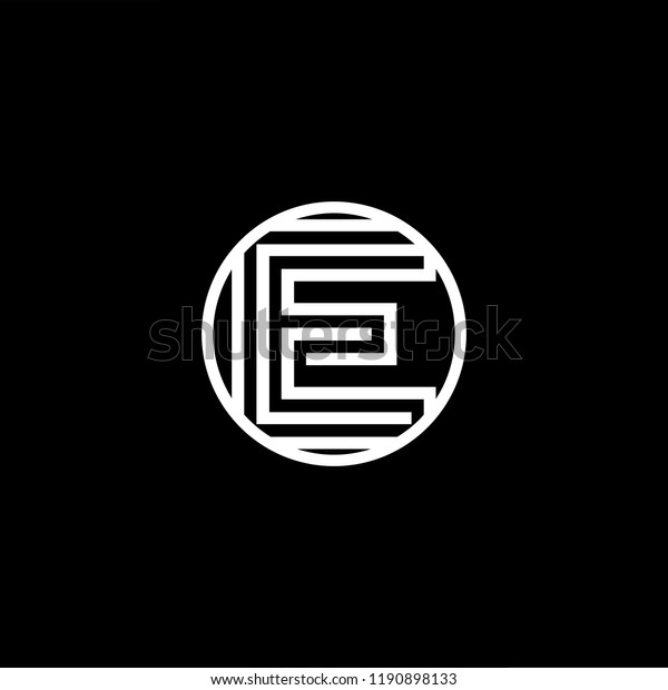 Initial Letter E Ee Eee Oe Stock Vector (Royalty Free