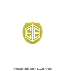 Initial Letter E, EE Leaf, Eco, Nature, Green, Organic Logo Design for Company Identity branding
